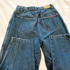 Vintage | 90's High Waisted Mom Jeans Seam Front
